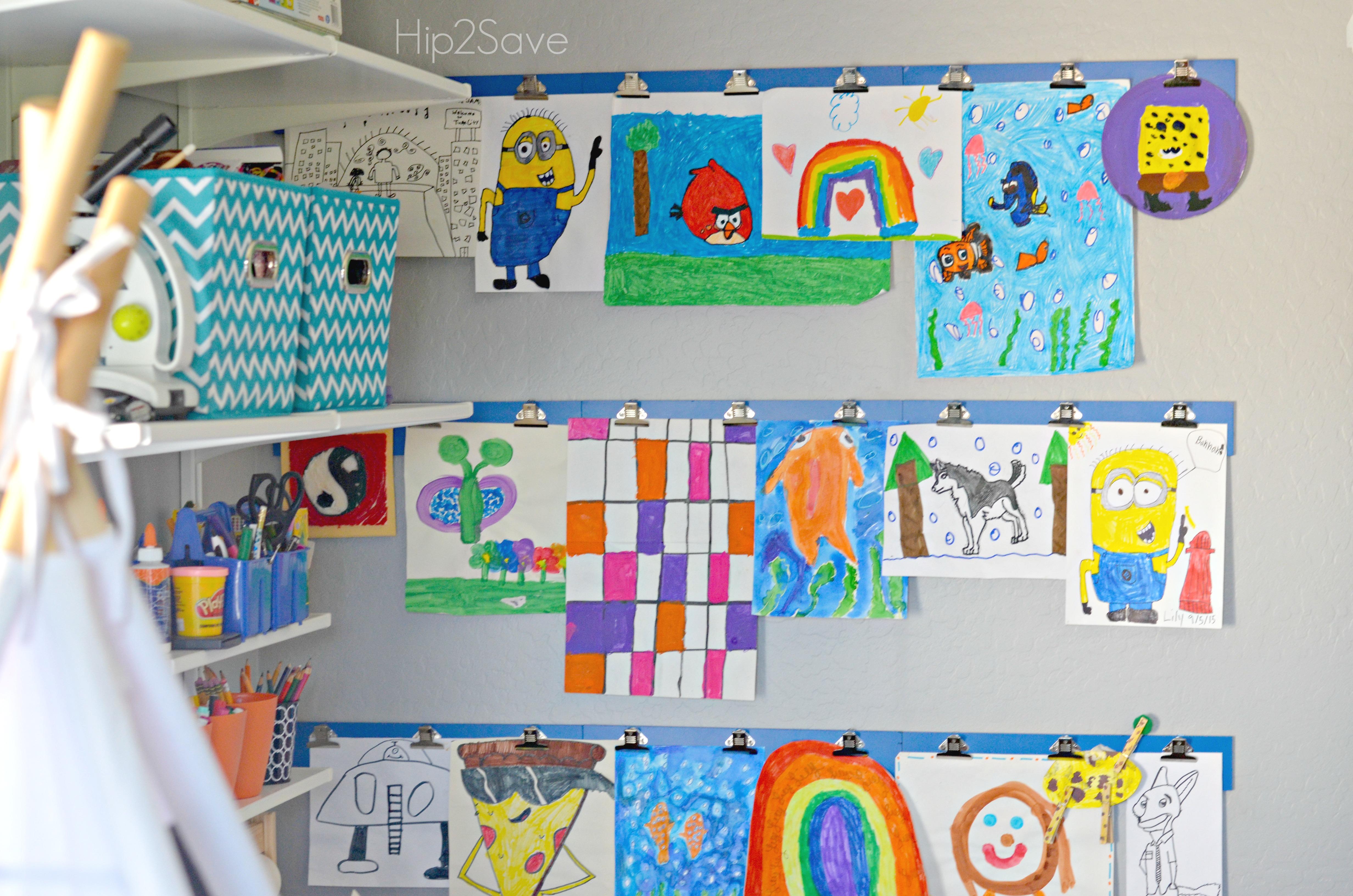 How to Display Kids Artwork by Hip2Save.com