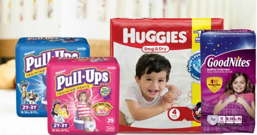 Huggies, Pull-Ups and Goodnites