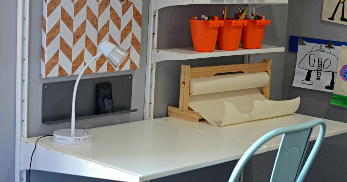 Ikea Shelving Desk
