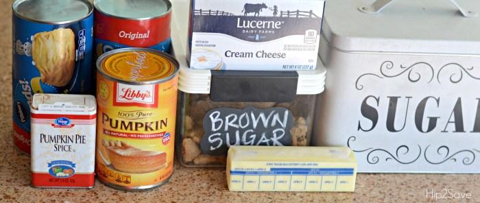 Ingredients for Pumpkin Monkey Bread