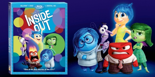 Disney Movie Rewards: Inside Out Blu-ray + DVD + Digital HD Only 750 Points + More