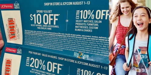 JCPenney: Possible $10 Off $10 Coupon (Check Your Mailbox)