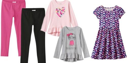 Kohl's Cardholders: Jumping Beans Girls Leggings, Long Sleeve Tees and Dresses Only $5.43 Each
