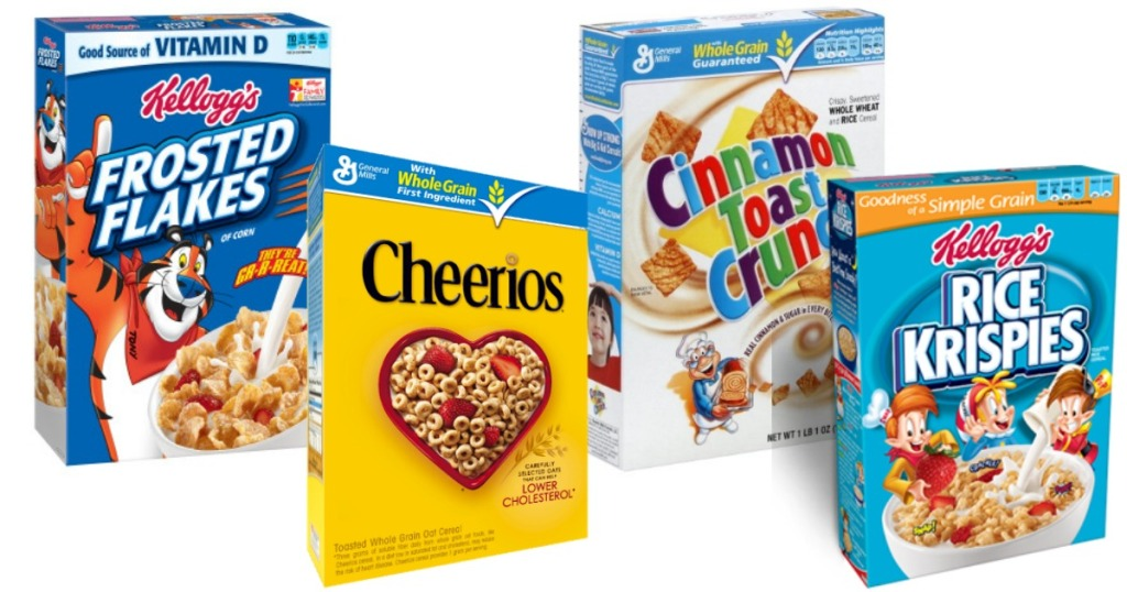 Kellogg's and General Mills Cereal