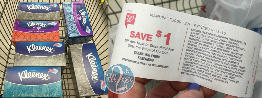 Kleenex at Walgreens