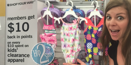 Kmart: Shop Your Way Members Get $10 In Points On EVERY $10 Spent On Kids' Clearance Apparel