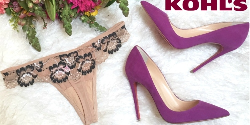 Kohl's: $10 Off $40 Intimates Purchase + Extra 30% Off AND Free Shipping for Cardholders