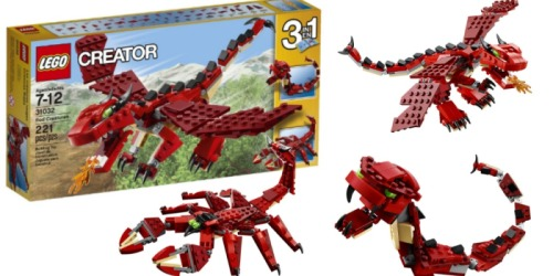 LEGO Creator 3-In-1 Red Creatures Set ONLY $10.99