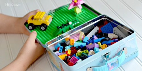 DIY LEGO Travel Case Made from Lunch Box