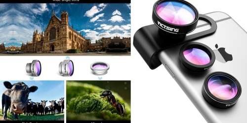 Amazon: 3-in-1 Clip-On Camera Lens Kit For Smartphones & Tablets Only $9.99 (Reg. $13.99)