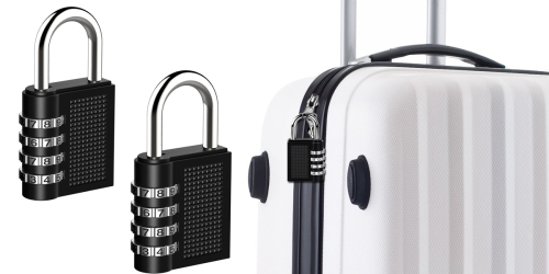 Amazon: Combination Lock 2-Piece Set ONLY $8.99 (Regularly $26.99)