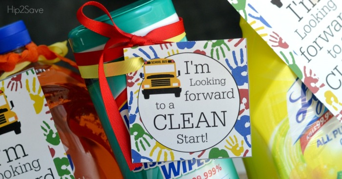 Cleaning Supplies Back to School Gift Idea + FREE Printable Tags