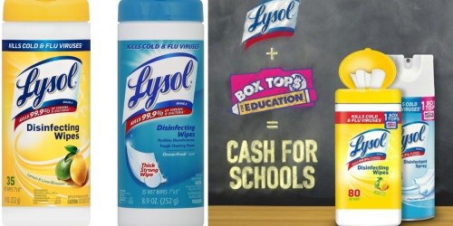 New $1/2 Lysol Disinfecting Wipes 35ct+ Coupon