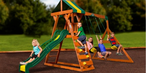 Walmart Clearance: Possible Outdoor Cedar Swing Set Only $169 (Reg. $349) & Playhouse Only $99