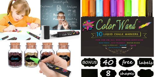 Amazon: 10 Liquid Chalk Markers AND 40 Chalkboard Labels Only $8.99 (Regularly $39.99)