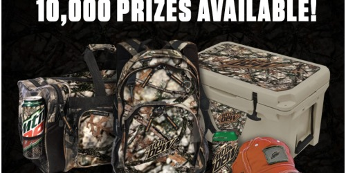 Mountain Dew Sweepstakes: Win Duffel Bags, Chairs, Headlamps & More (10,000 Winners!)