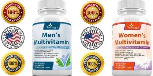 Amazon: 90-Day Supply of Men's or Women's Natrogix Multivitamins Just $12.99 (Reg. $25.99)