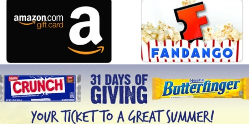 Nestle Instant Win Game: Enter For a Chance To Win Amazon & Fandango Gift Cards + More