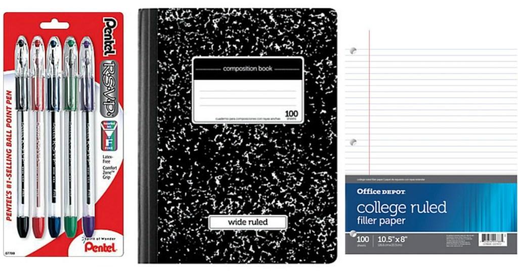 Office DepotOfficeMax school supplies