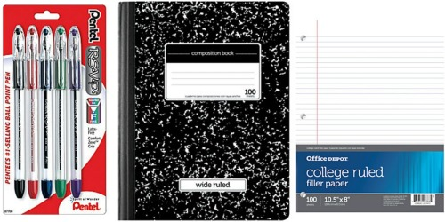 Office Depot/OfficeMax: Back to School Deals Starting 8/28 (FREE Pentel Pens & More)