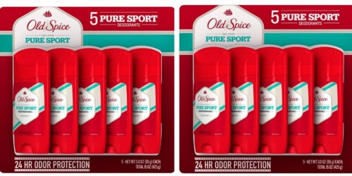 Amazon: Old Spice Deodorant 5-Pack Only $9.93 (Ships W/ $25+ Order)