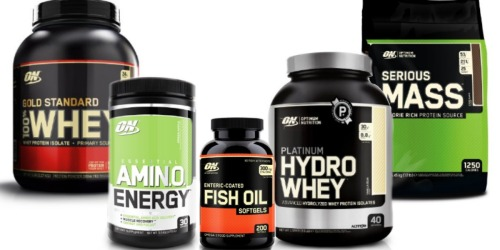 Amazon: 15% Off Participating Optimum Nutrition Products