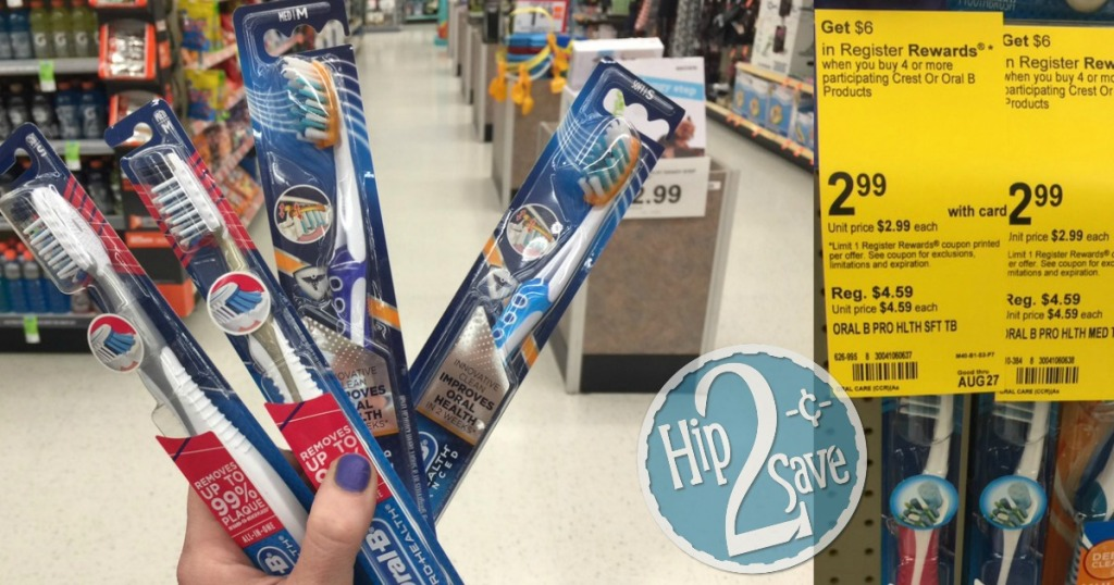 Oral-B Toothbrushes at Walgreens Hip2Save
