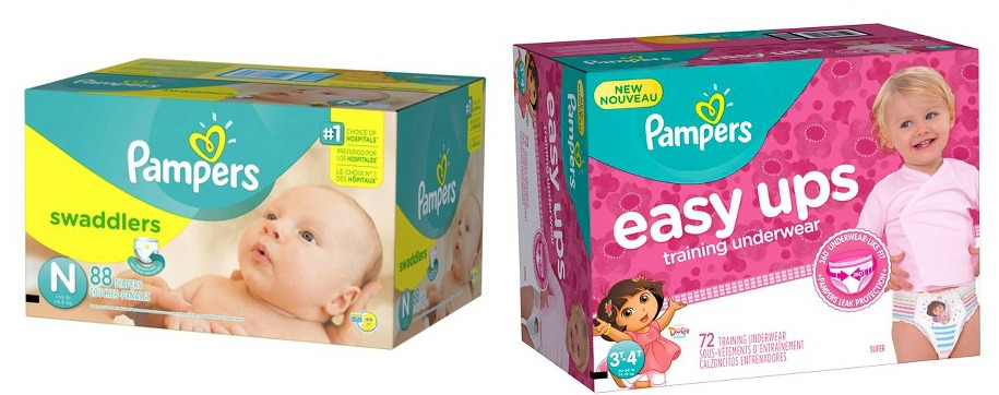 Pampers diapers and easy ups