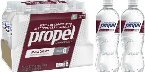 Amazon: Propel Black Cherry Zero Calorie Sports Drinking Water 12 Pack ONLY $5.68 Shipped