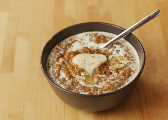 Pumpkin Pie Slow Cooker Oatmeal
