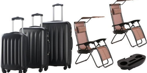 Rakuten.com: $10 Off $75 Purchase w/ Visa Checkout = Nice Deals on Luggage, Patio Chairs & More