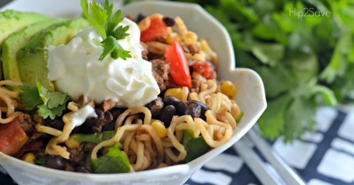 Ramen Noodle Taco Bowls