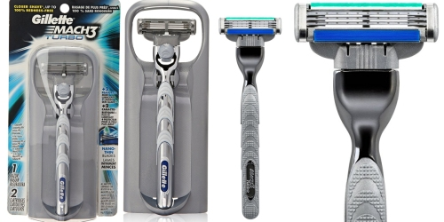 Amazon: Gillette Mach3 Turbo Men's Razor With 2 Cartridges Only $5.26 Shipped