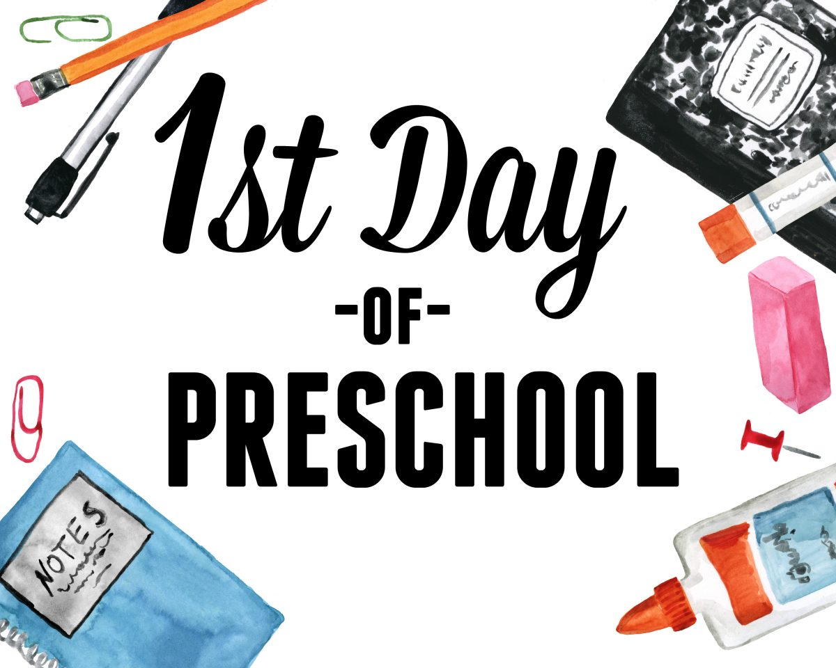 graphic relating to First Day of Preschool Free Printable called Cost-free Initial Working day of Faculty Printable Symptoms - Hip2Help you save
