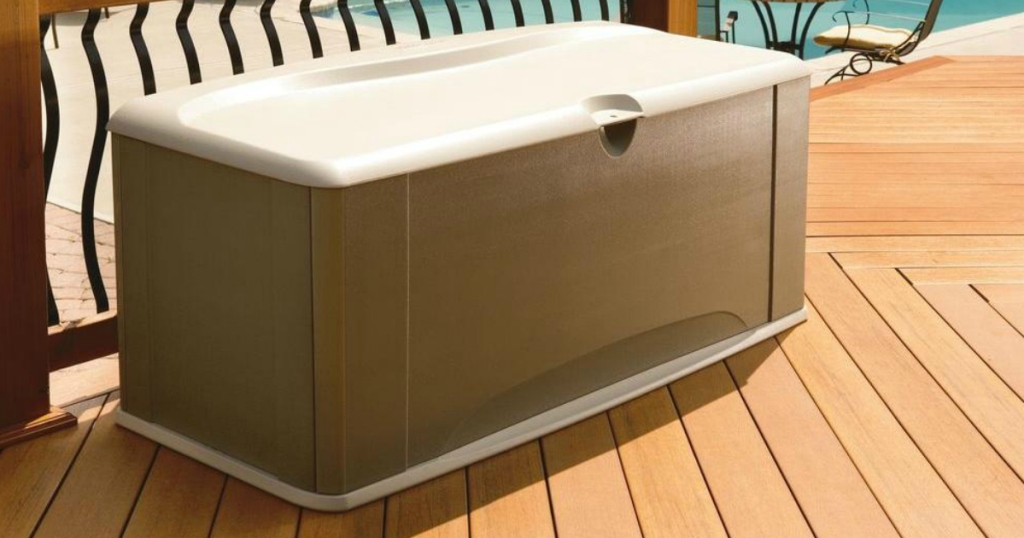 Home Depot: Rubbermaid 90 Gallon Large Deck Box With Seat