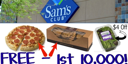 Join Sam's Club NOW to Score FREE $20 Gift Card, FREE Pizza & Cookies + MORE