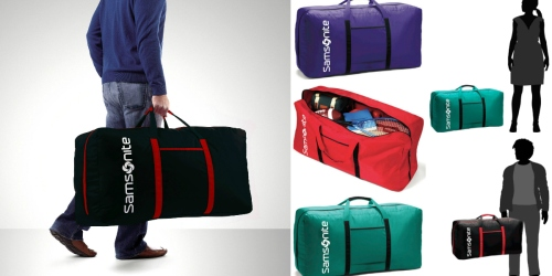 HUGE Samsonite Tote-A-Ton Duffle Bag Only $17.99 (Reg. $60) – Holds As Much As a Trunk!