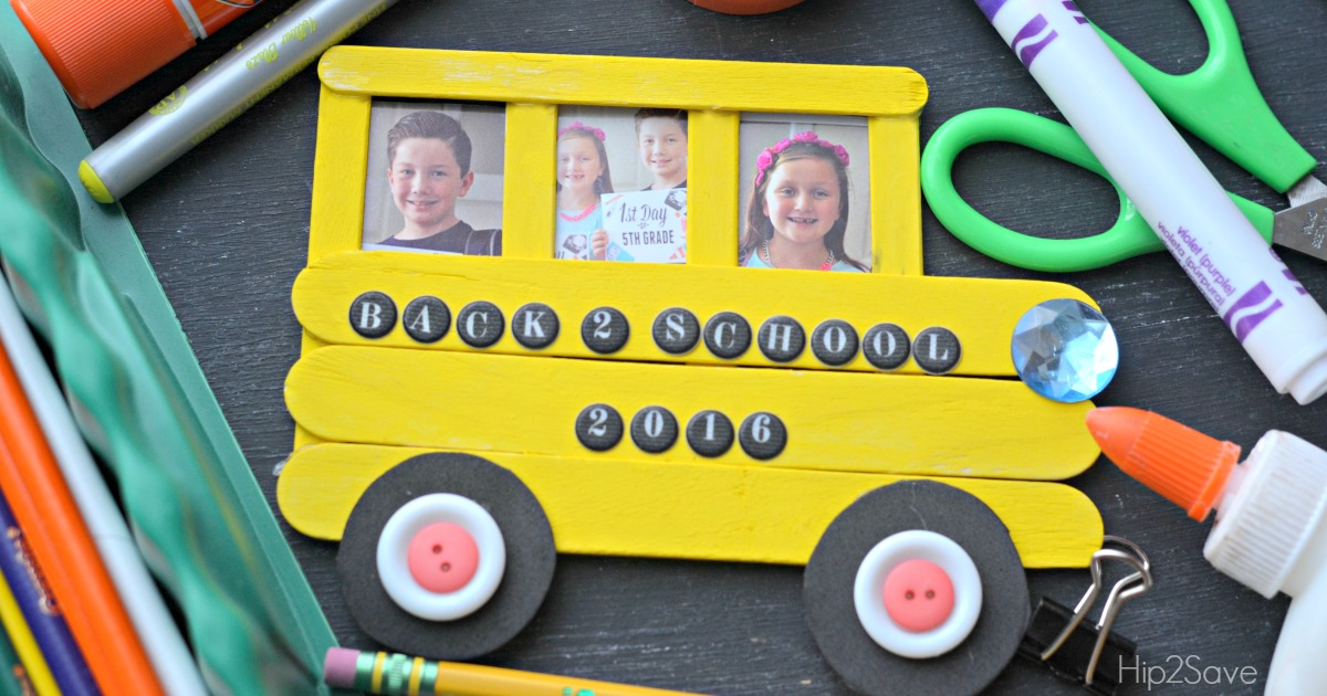 School Bus Craft for Back to School Hip2Save.com