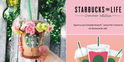 Starbucks Giveaway: 5 Win Free Starbucks for Life  (+ Over 2,000,000 Win Free Bonus Stars)