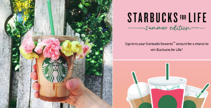 Starbucks For Life Giveaway