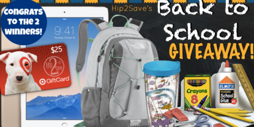 Congrats to TWO Hip2Save Giveaway Winners of Back to School Prize Packages Valued at $600
