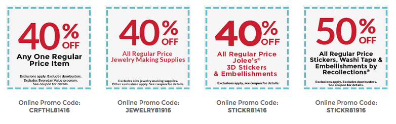 Michaels: 40% Off ONE Regular-Priced Item Coupon (Today Only