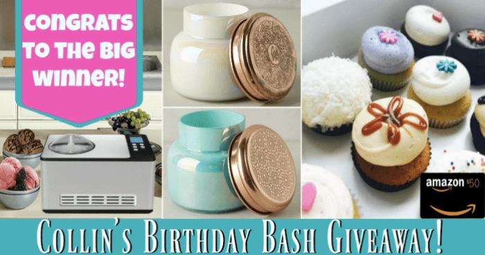 Birthday Bash Giveaway Winner