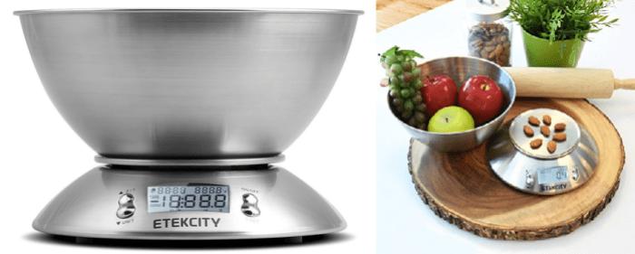 Etekcity Digital Stainless Steel Kitchen Scale