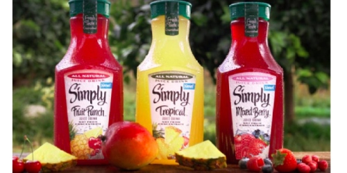 NEW $0.75/1 Simply Juice Drink Coupon = ONLY $1.25 Per Bottle at Target
