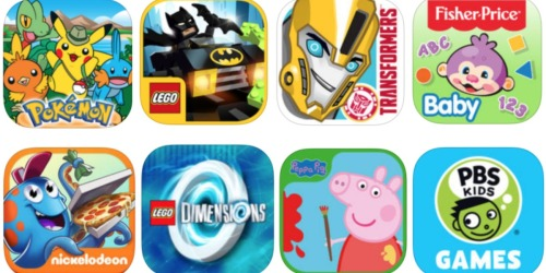 Score 50 Most Downloaded Kids' Apps for FREE (Nick Jr., LEGO, Camp Pokemon, PBS Kids, Peppa Pig)
