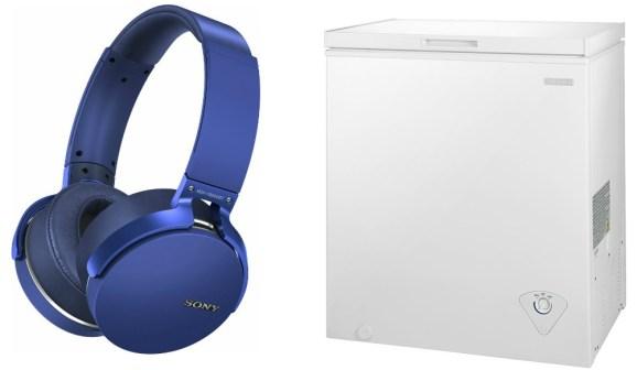 Sony headphones and freezer