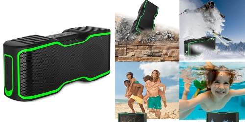 Amazon: Waterproof Portable Bluetooth Speaker Only $29.99 (Regularly $99.99)