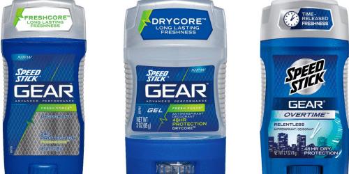 CVS: Speed Stick GEAR Deodorant Only $1 Each (After Reward)
