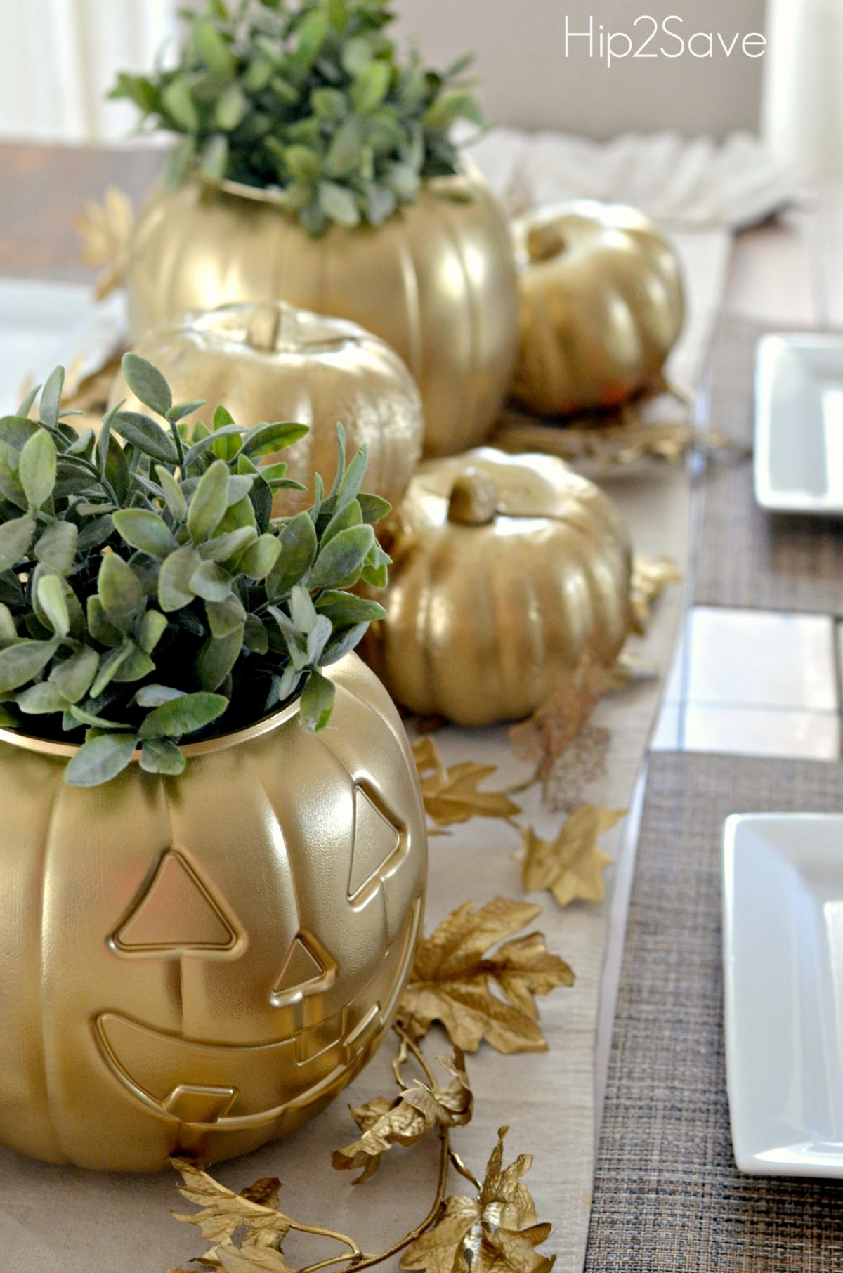 Spray Painted Pumpkins
